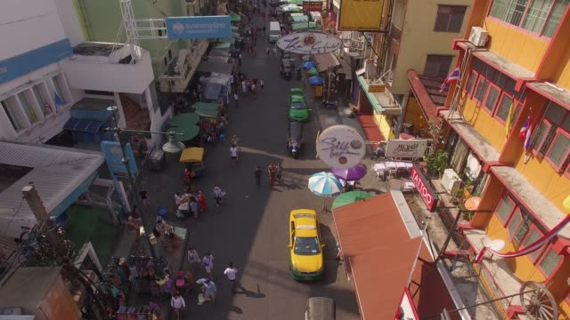khaosan road in bangkok, thailand - bangkok stock videos & royalty-free footage