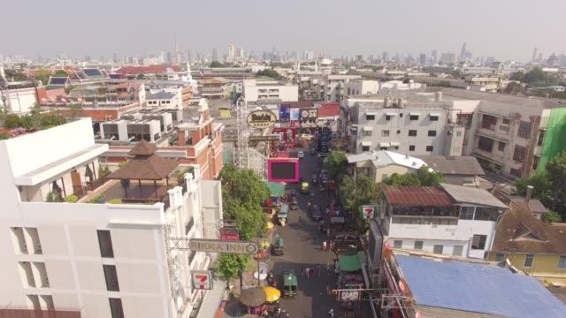 khaosan road in bangkok, thailand - thailand stock videos & royalty-free footage