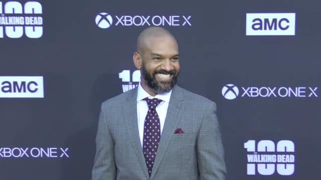 Khary Payton at AMC's The Walking Dead 100th Episode Season 8 Special Premiere Screening at The Greek Theatre on October 22 2017 in Los Angeles...