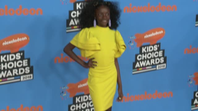 kheris rogers at the nickelodeon's 2018 kids' choice awards at the forum on march 24 2018 in inglewood california - nickelodeon kid's choice awards stock videos & royalty-free footage