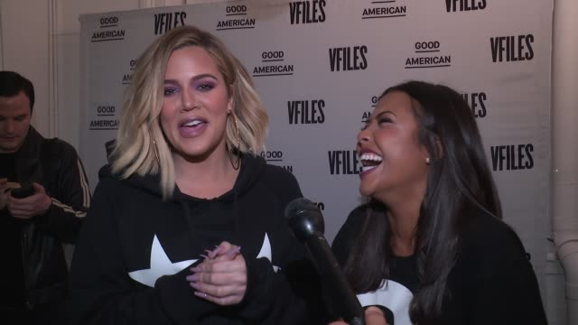 INTERVIEW Khloe Kardashian and Emma Grede at Khloe Kardashian Emma Grede Celebrate Good American PopUp in Collaboration with VFILES at 12 Mercer on...