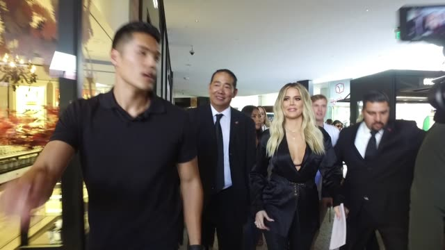 khloe kardashian at good american anniversary celebration with khloe kardashian & emma grede at nordstrom century city on october 07, 2017 in los... - anniversary stock videos & royalty-free footage
