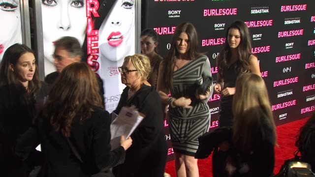 khloe kardashian at the 'burlesque' premiere at hollywood ca. - burlesque stock videos & royalty-free footage