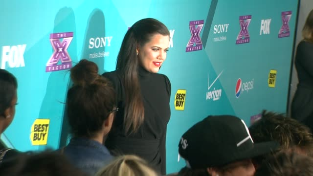 khloe kardashian at the x factor finalists party on 11/5/2012 in los angeles ca - 2012 stock videos & royalty-free footage