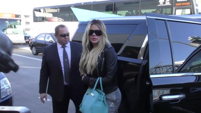 Khloe Kardashian departing at LAX Airport in Los Angeles in Celebrity Sightings in Los Angeles