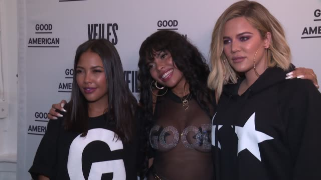 CLEAN Khloe Kardashian Emma Grede Celebrate Good American PopUp in Collaboration with VFILES at 12 Mercer on October 26 2017 in New York City