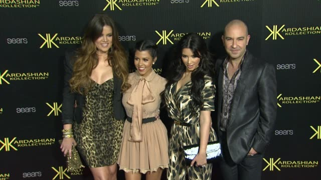 Khloe Kardashian Kourtney Kardashian Kim Kardashian at the Kardashian Kollection Launch Party at Los Angeles CA
