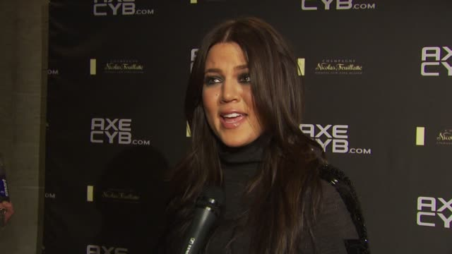 Khloe Kardashian Odom on watching the AXECYB video at the Axe CYB Party Sundance Film Festival 2010 at Park City UT
