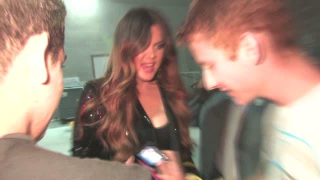 Khloe Kardashian signs in Hollywood