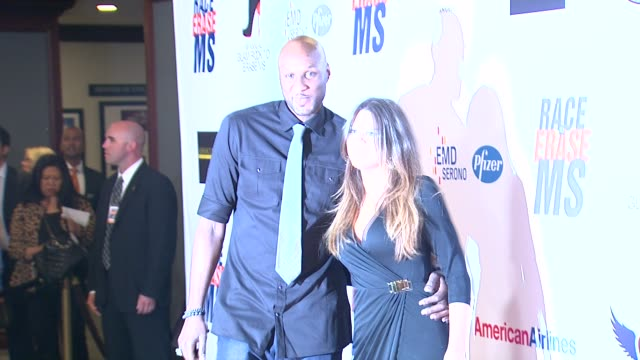 khloe kardashianodom lamar odom at 19th annual race to erase ms glam rock to erase ms on 5/18/12 in los angeles ca - race to erase ms stock videos and b-roll footage