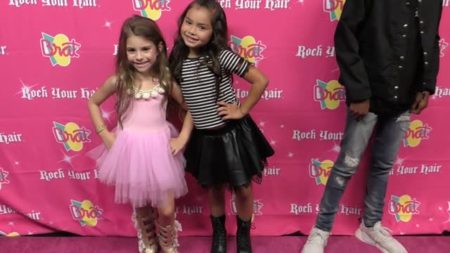 Khloee Jae and Eileen Delgado at the Rock Your Hair Presents Rock Back to School Concert and Party at Avalon on September 30 2017 in Hollywood...