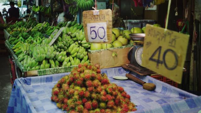 khlong toei talat wet market - タイ王国点の映像素材/bロール