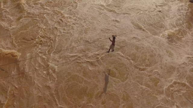 khone phapheng falls, mekong river - mekong delta stock videos & royalty-free footage