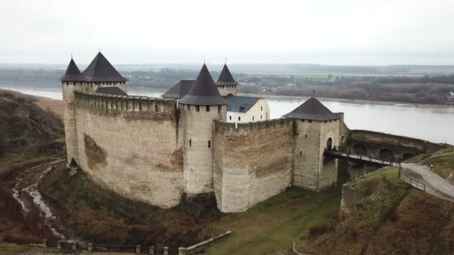khotyn fortress - fortress stock videos & royalty-free footage