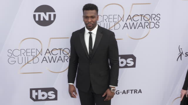 khris davis at 25th annual screen actors guild awards at the shrine auditorium on january 27 2019 in los angeles california - screen actors guild awards stock videos & royalty-free footage