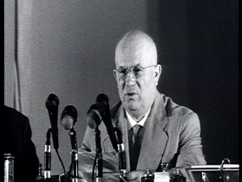 Khrushchev and Gromyko give press conference for foreign correspondents Khrushchev reads declaration about American aggressive politics and the U2...