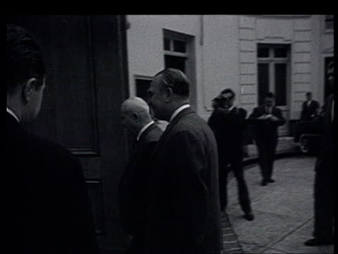 khrushchev in france the paris summit photographers and reporters waiting for khrushchev at matignon and at the soviet embassy rue de grenelle... - former ussr flag stock videos & royalty-free footage