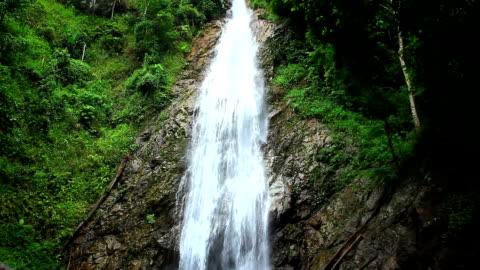 khunkorn waterfall,tilt down - tilt down stock videos & royalty-free footage