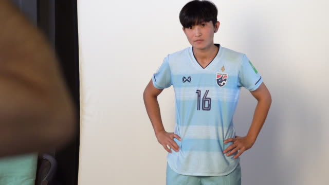 Khwanruedi Saengchan at FIFA Women's World Cup France 2019 Team Portrait Session on June 08 2019 in Reims
