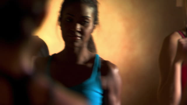 kickboxing class - see other clips from this shoot 1272 stock videos and b-roll footage