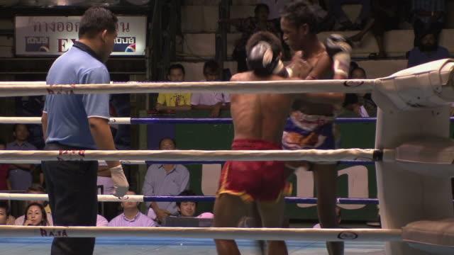 ms kickboxing match, bangkok, thailand - kickboxing stock videos & royalty-free footage