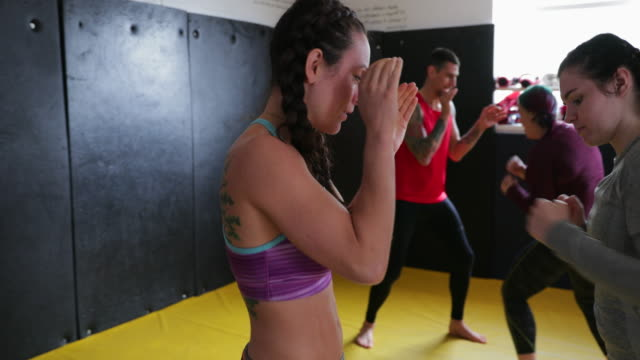 kickboxing training - self defence stock videos & royalty-free footage