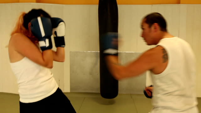 kickboxing warm up exercises - kickboxing stock videos and b-roll footage