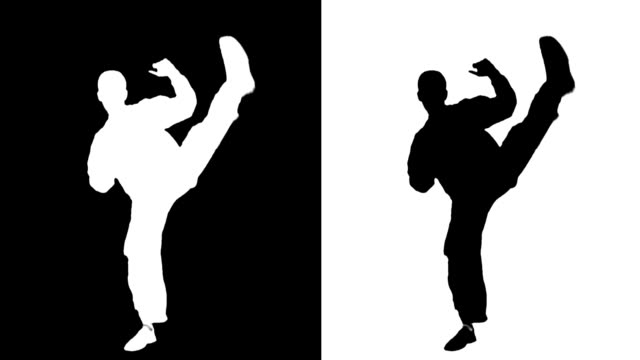 蹴る男性 - カンフー点の映像素材/bロール