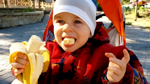 kid choked on a banana - banana stock videos & royalty-free footage