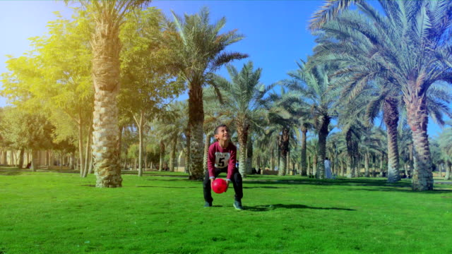 kid play in park - saudi arabia stock videos and b-roll footage