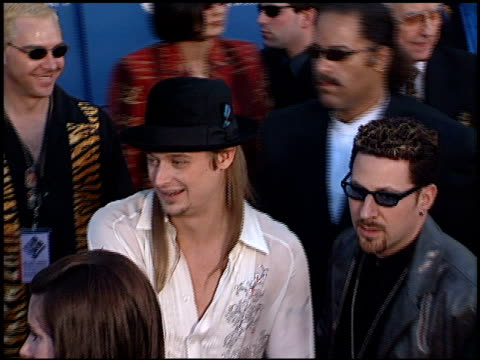 kid rock at the 2001 grammy awards at staples in los angeles, california on february 21, 2001. - kid rock stock videos & royalty-free footage
