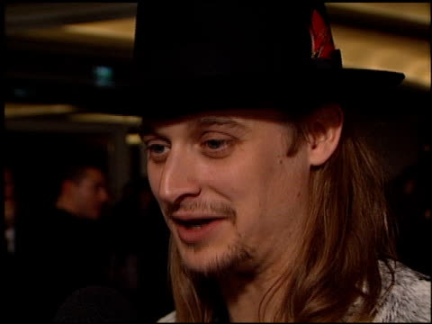 kid rock at the arista records pre-grammy awards party at the beverly hilton in beverly hills, california on february 22, 2000. - kid rock stock videos & royalty-free footage