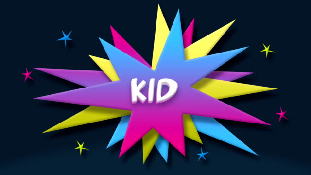 kid text in speech balloon with colorful stars - speech bubble stock videos & royalty-free footage