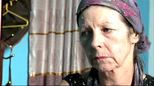 kidnapped british woman released by somali pirates; somalia: adado: int judith tebbutt interview sot - just happy to be released and looking forward... - アフリカの角点の映像素材/bロール
