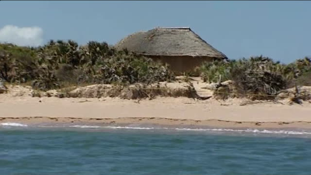 Kidnapped British woman released by Somali pirates T12091108 / 1292011 General views of beach and beach huts seen from sea