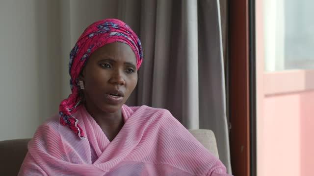 kidnapped chibok schoolgirls: government still struggling to protect children seven years on according to amnesty international; nigeria: abuja: int... - politics video stock e b–roll