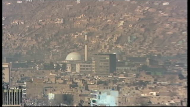 kidnapped documentary maker released by taliban; tx 3.3.2008 afghanistan: kabul: kabul city skyline - afghanistan stock videos & royalty-free footage