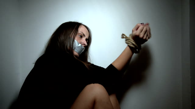 kidnapped woman - tied up stock videos & royalty-free footage