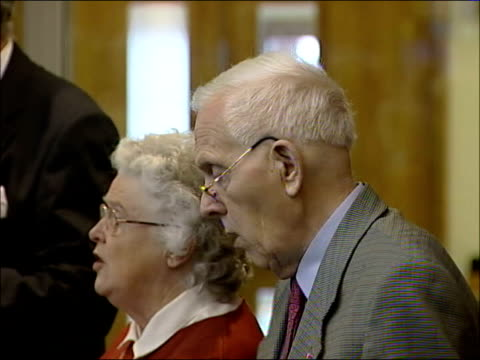 kidnappers release american journalist, jill carroll; tx 26.3.2006 england: north london: harrow baptist church: int norman kember with his wife pat... - jill carroll stock videos & royalty-free footage