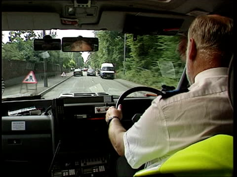 kidney donors to be paid?; england: int ambulance view from ambulance as along road with sirens sounding track ext back of ambulance opened to reveal... - human kidney stock-videos und b-roll-filmmaterial
