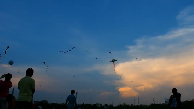 kids and kites - kite sailing stock videos and b-roll footage