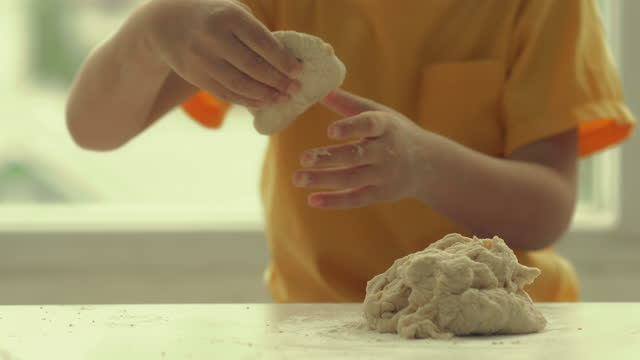 kids baking bread , imperfection - imperfection stock videos & royalty-free footage