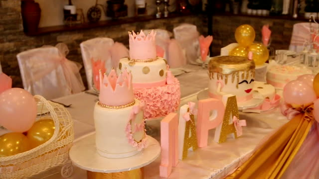 Kids birthday party decoration and cake