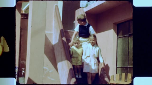 kids coming down from the stairs - tram stock videos & royalty-free footage