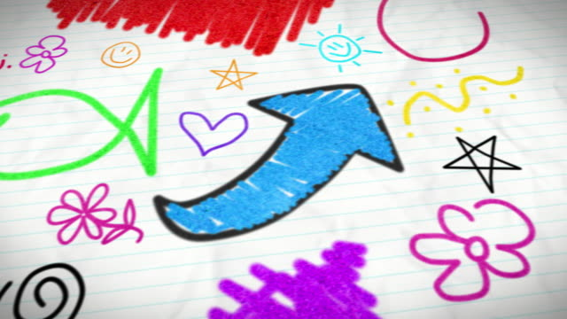 kids doodles - scribble stock videos & royalty-free footage