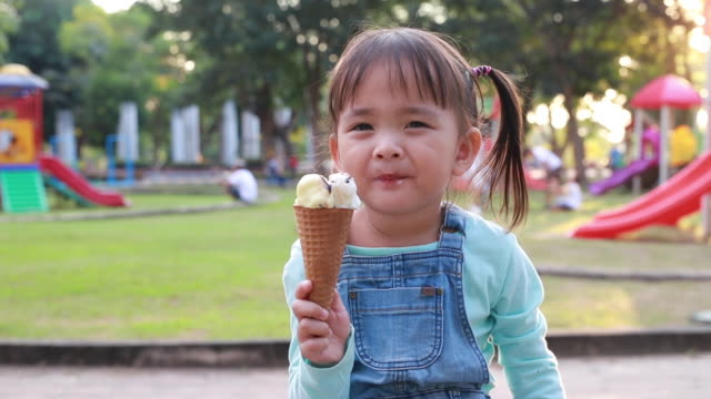 kids eat ice cream - 2 3 years stock videos & royalty-free footage