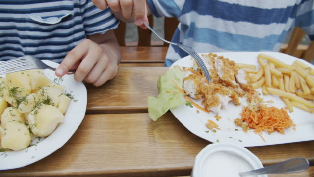kids enjoying lunch outdoors - table knife stock videos & royalty-free footage