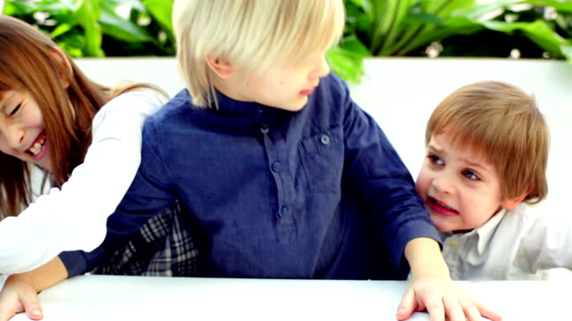 kids fighting at the table - arguing stock videos & royalty-free footage