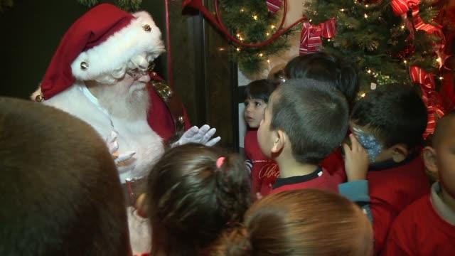 WGN Kids Meeting Santa At Macy's at Macy's on November 19 2013 in Chicago Illinois