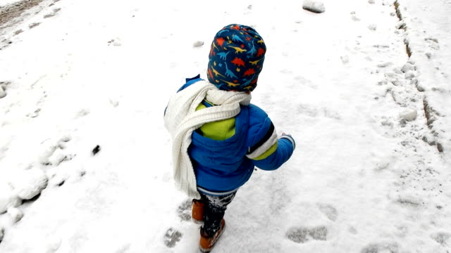 kids on sleigh. children sled. winter snow fun. - ethnicity stock videos & royalty-free footage
